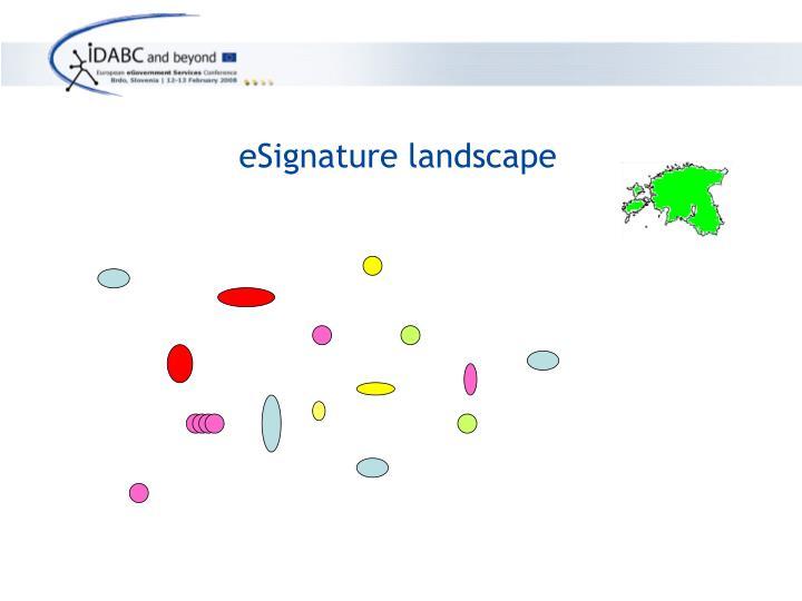 eSignature landscape