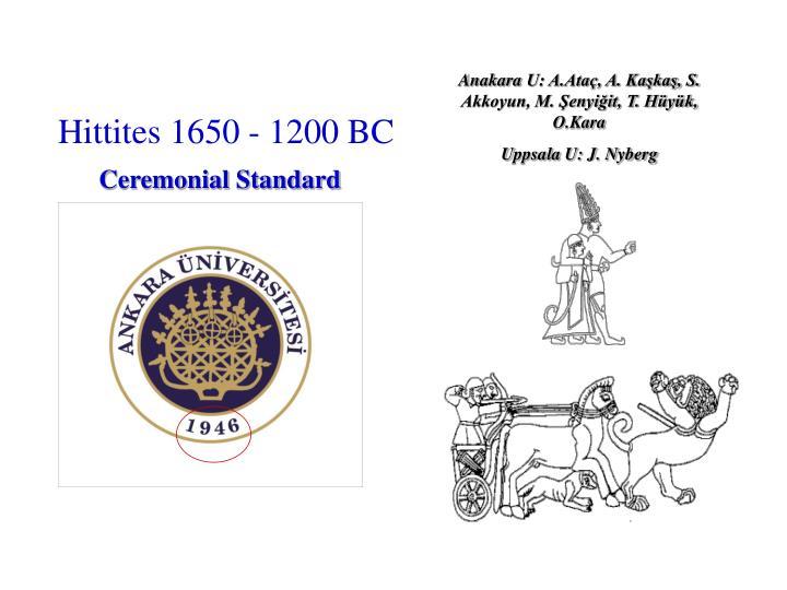 Hittites 1650