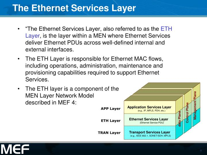 The Ethernet Services Layer