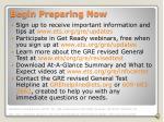 begin preparing now