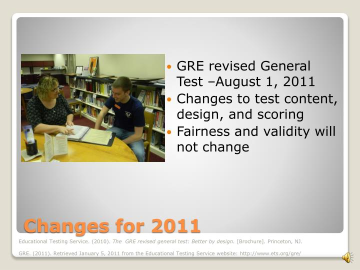 GRE revised General Test –August 1, 2011