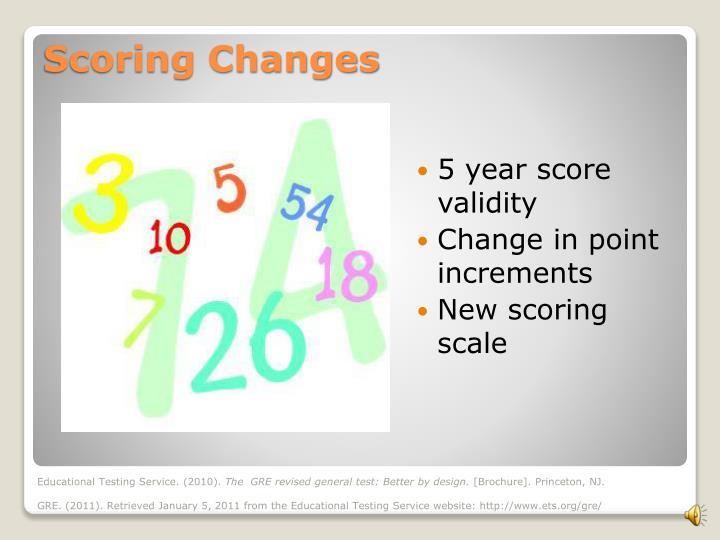 5 year score validity