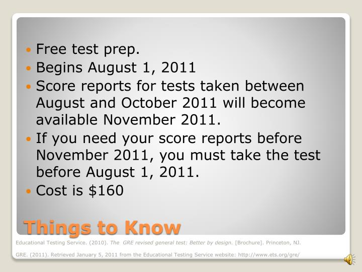 Free test prep.