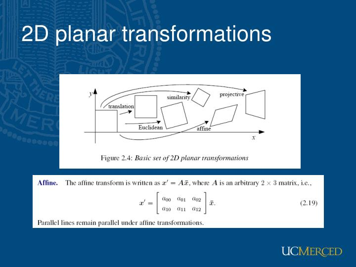 2D planar transformations