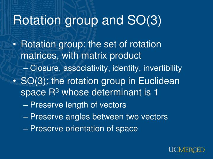 Rotation group and SO(3)
