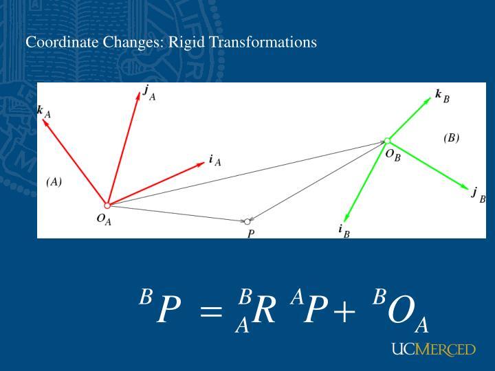 Coordinate Changes: Rigid Transformations