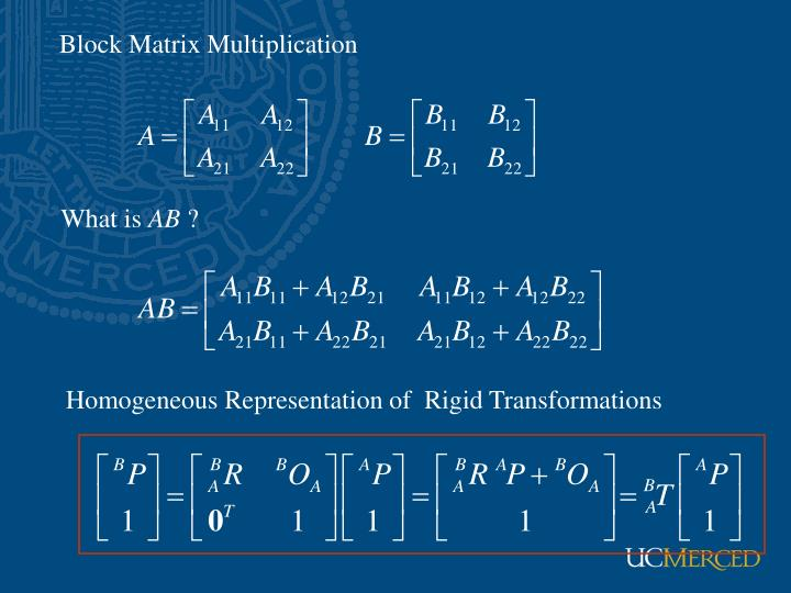 Block Matrix Multiplication