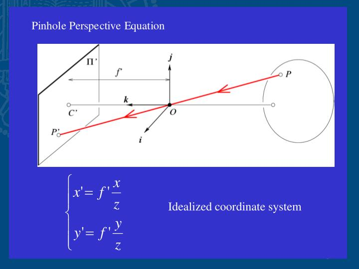 Idealized coordinate system