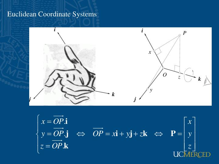 Euclidean Coordinate Systems