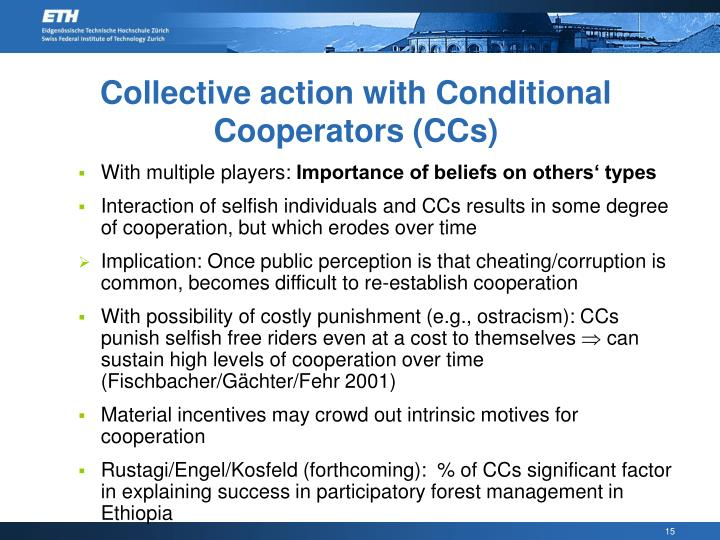 Collective action with Conditional Cooperators (CCs)