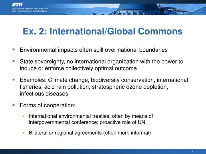 Ex. 2: International/Global Commons