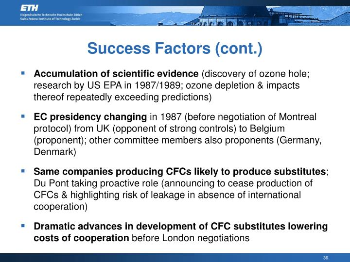 Success Factors (cont.)