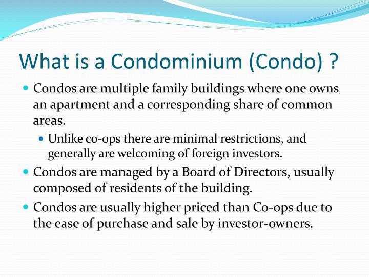 What is a Condominium (Condo) ?