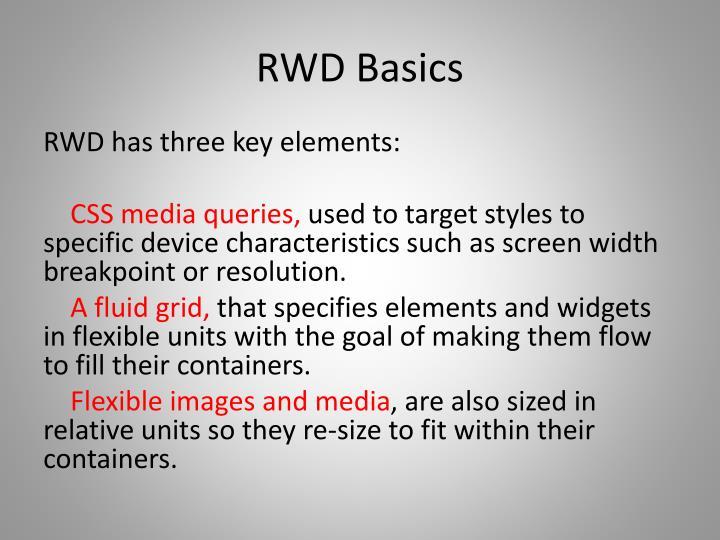 RWD Basics