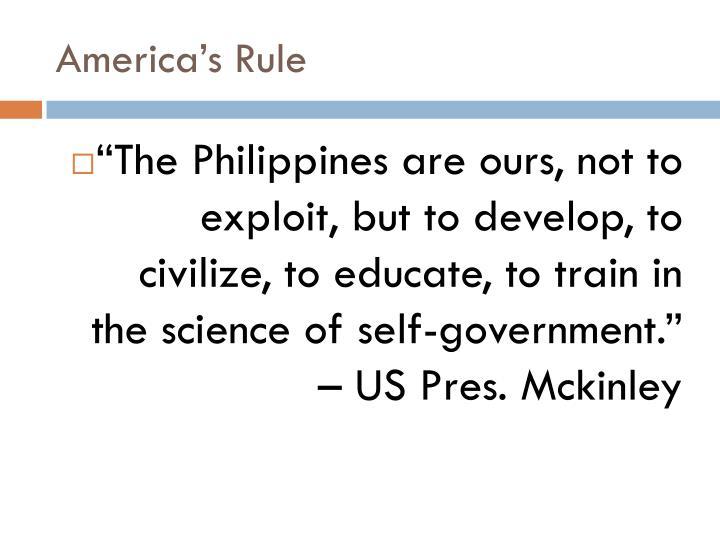 America's Rule