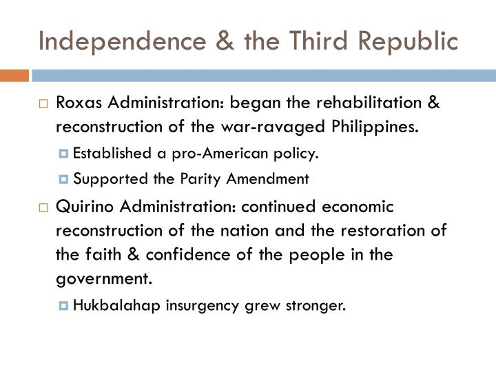 Independence & the Third Republic