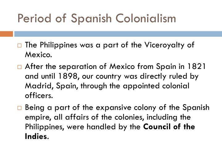 Period of Spanish Colonialism