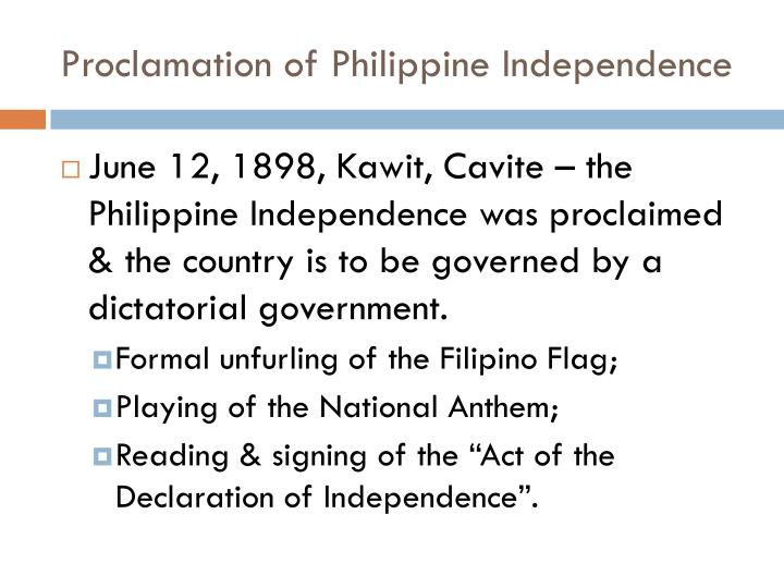 Proclamation of Philippine Independence