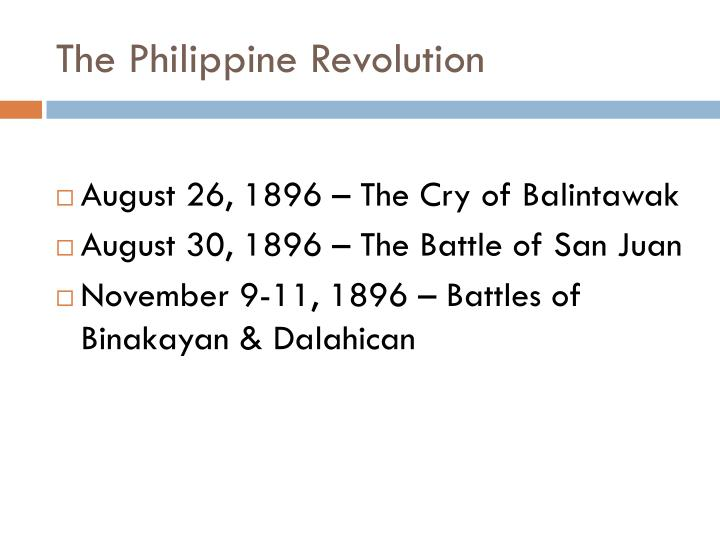 The Philippine Revolution