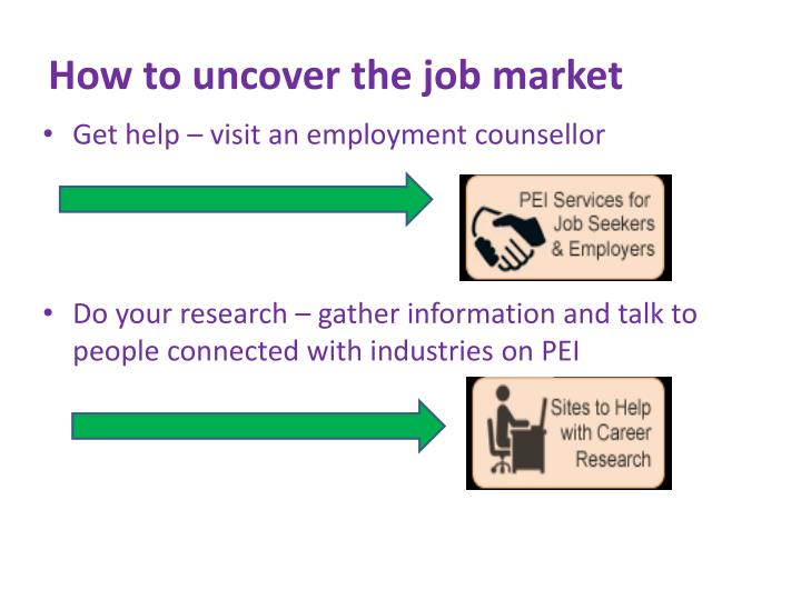 How to uncover the job market
