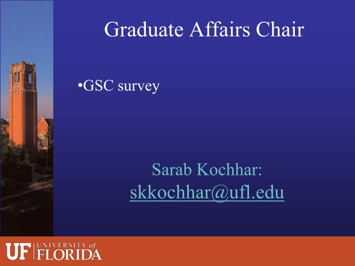 Graduate Affairs Chair