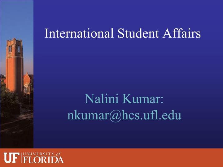 International Student Affairs