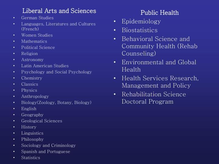Liberal Arts and