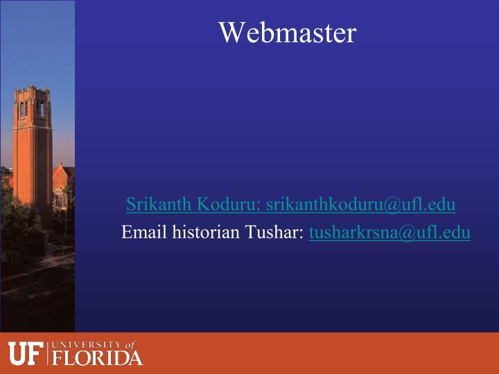 Srikanth Koduru: srikanthkoduru@ufl.edu