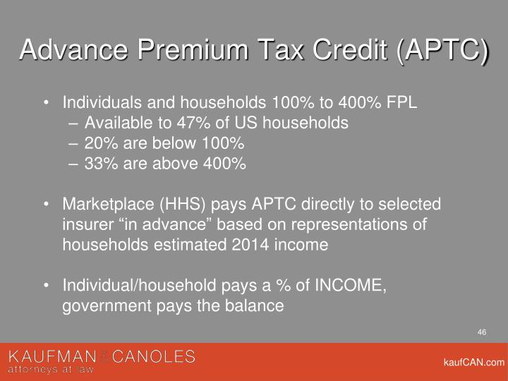 Advance Premium Tax