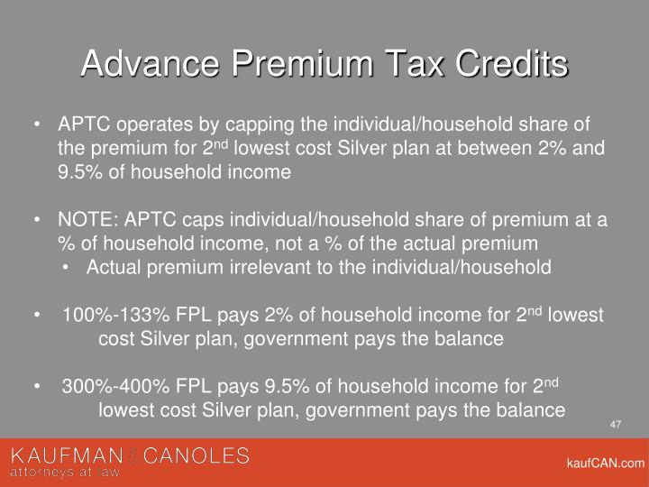 Advance Premium Tax Credits