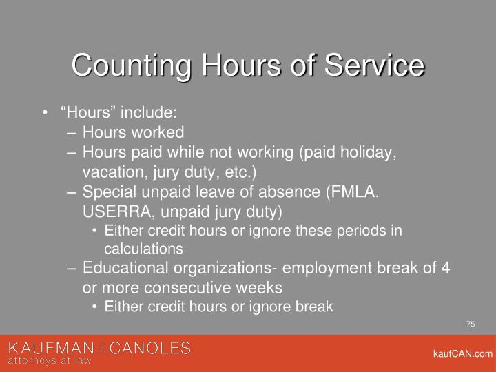 Counting Hours of Service