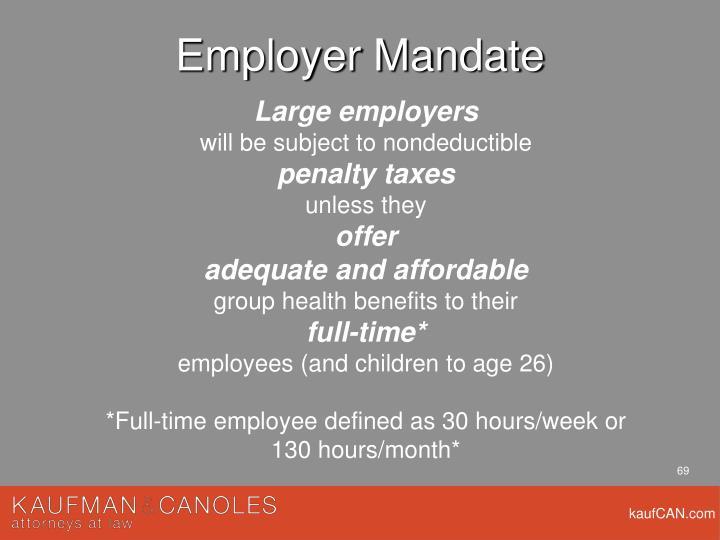Employer Mandate