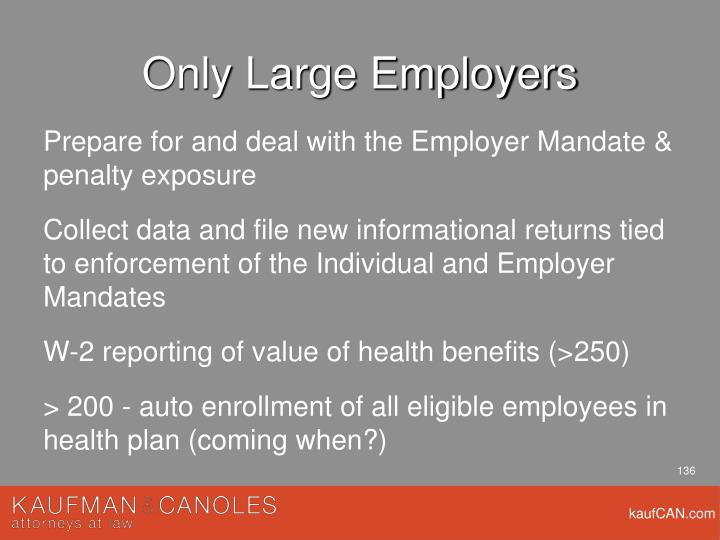 Only Large Employers