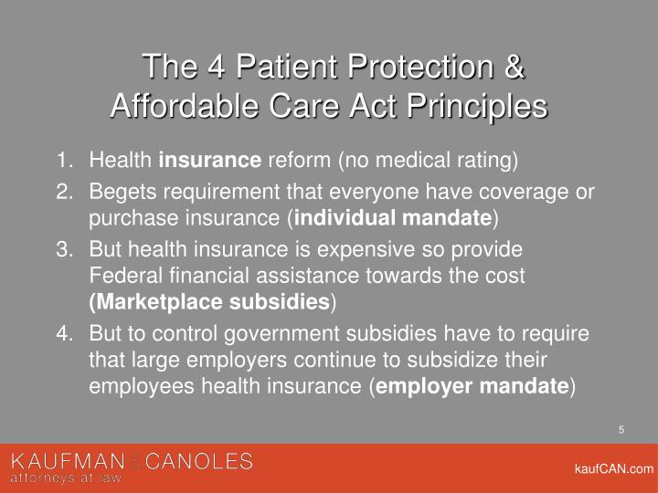 The 4 Patient Protection &