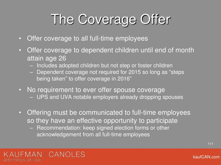 The Coverage Offer