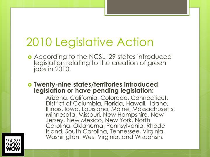 2010 Legislative Action