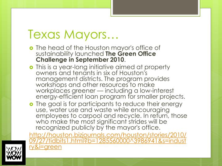 Texas Mayors…