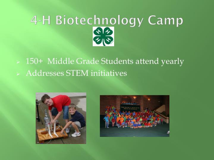 4-H Biotechnology Camp