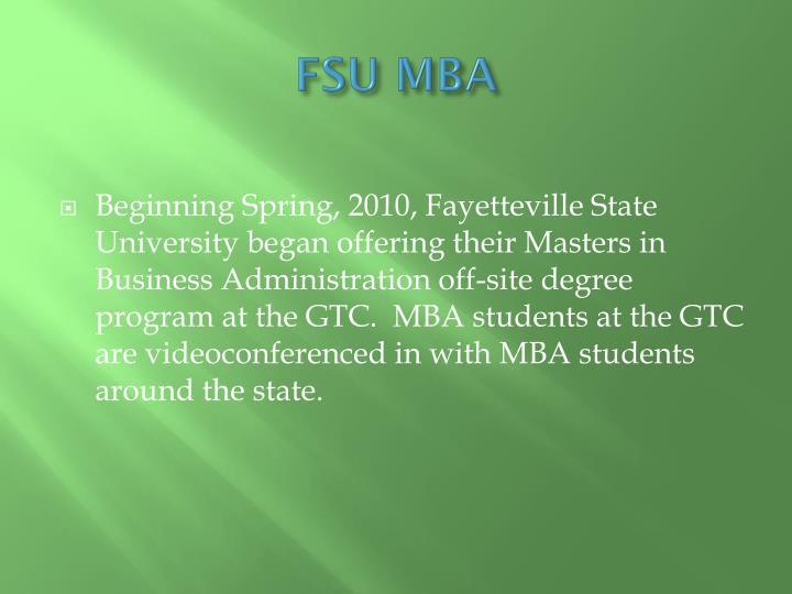 FSU MBA