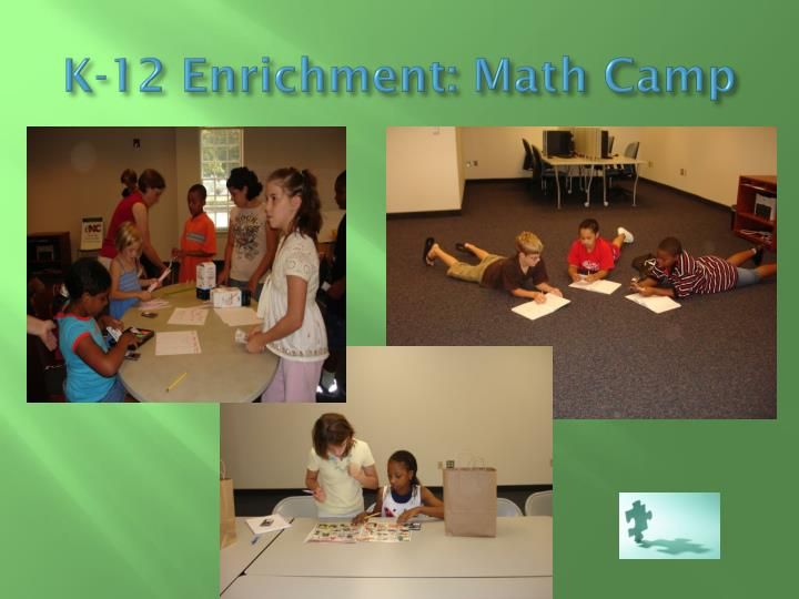 K-12 Enrichment: Math Camp