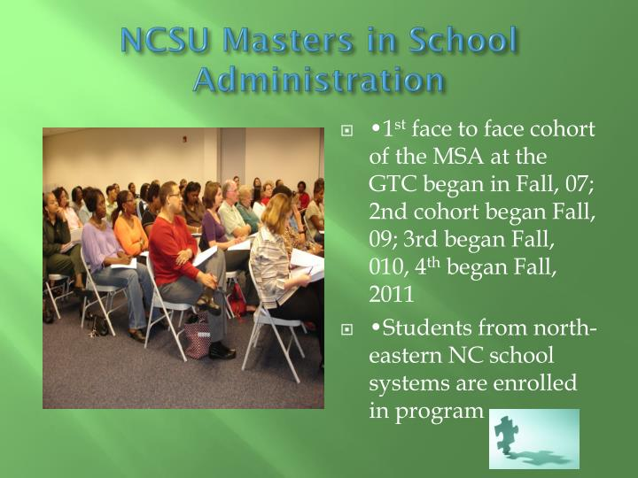 NCSU Masters in School Administration