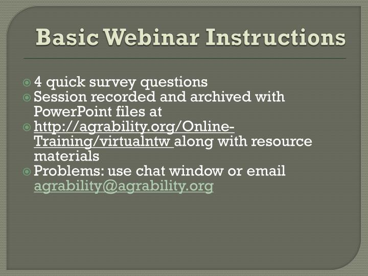 Basic webinar instructions1
