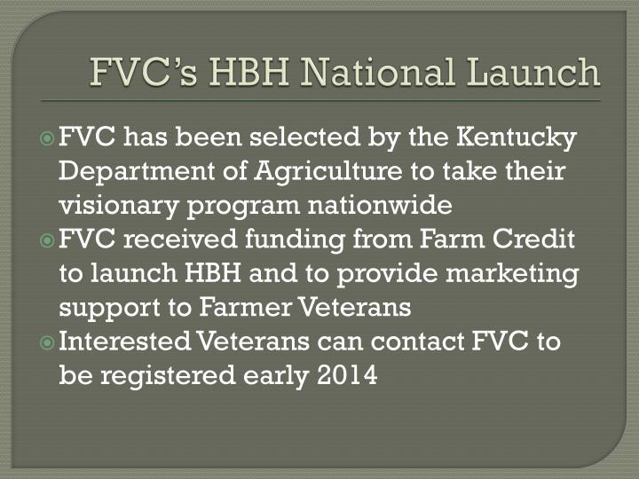FVC's HBH National Launch