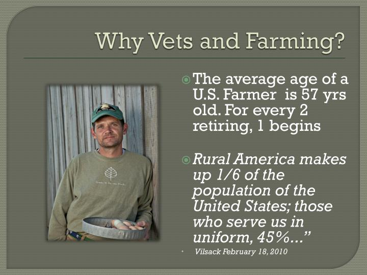 Why Vets and Farming?