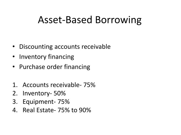 Asset-Based Borrowing