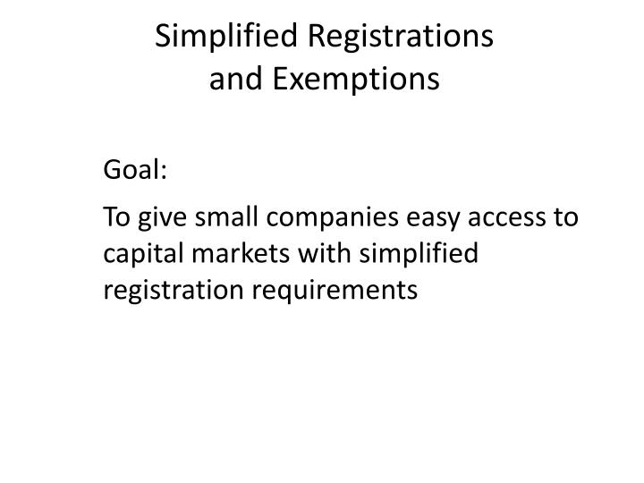Simplified Registrations