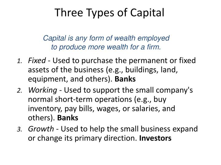 Three Types of Capital