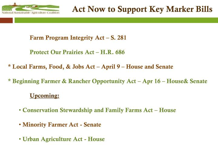 Act Now to Support Key Marker Bills