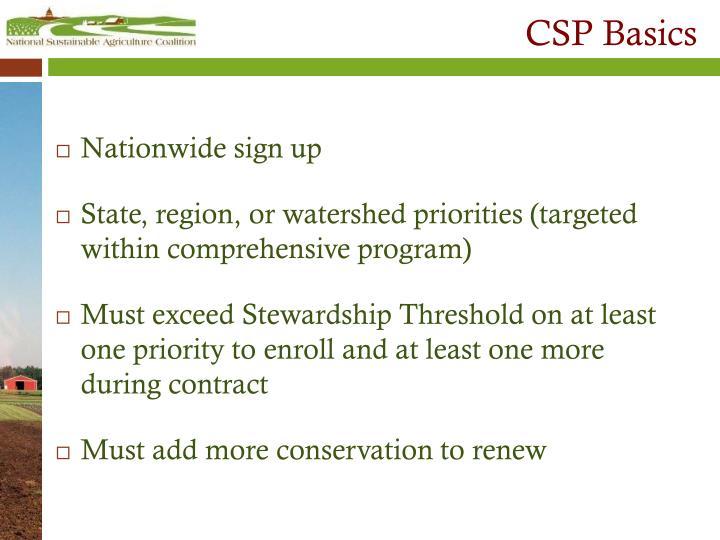 CSP Basics