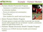 example farmers markets